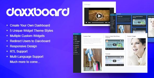 Daxxboard – WordPress Custom Dashboard Creator