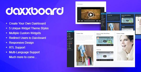 Daxxboard – WordPress Custom Dashboard Creator