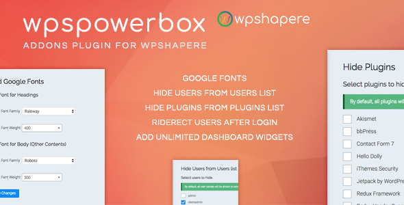 WPSPowerbox – Addon for WPShapere